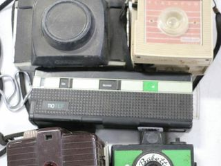 5 ASSORTED CAMERAS  NOT TESTED