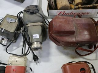 3 ASSORTED MOVIE CAMERAS NOT TESTED