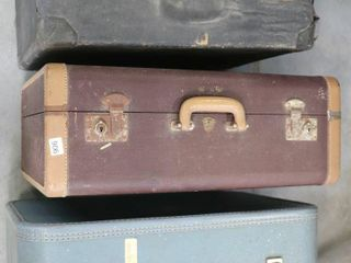 3 ASSORTED SUITCASES APROX 19  X 17