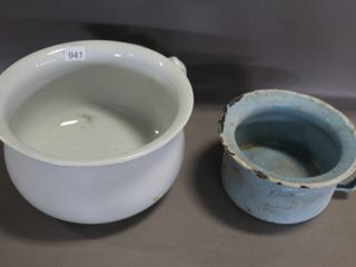 MEAKIN COMMODE DISH  AND ENAMEl DISH