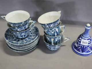 GROUP OF DElFT BlUE DISHES ETC