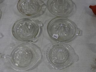 10 ASSORTED GlASS JUICERS