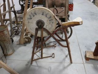 ANTIQUE GRINDING WHEEl WITH SEAT