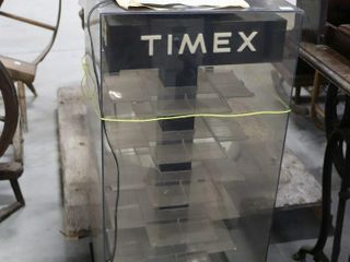 TIMEX ROTATING PlASTIC WATCH CABINET   NOT TESTED