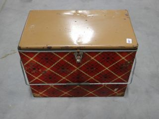 VINTAGE COOlER WITH THERMOS S