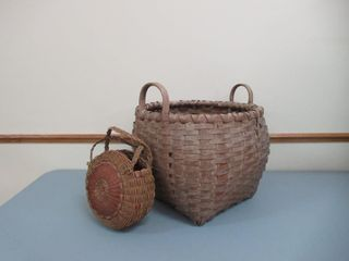 Splint Basket   Purse   Panier  saccoche a eclisse