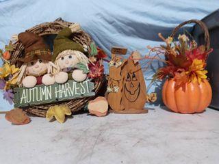 lot of autumn fall decor wreath  decor