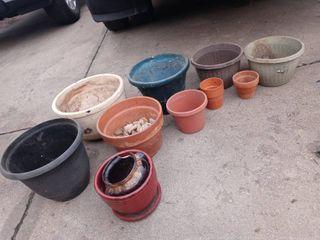 lot of flower pots   planters