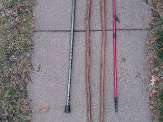 lot of walking Canes or walking sticks