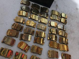 Brass Belt Buckle lot in Metal box