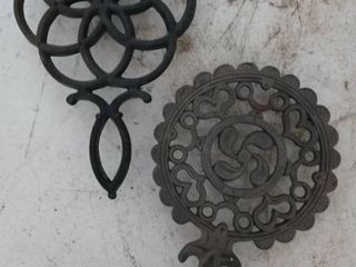 lot of 2 Iron Trivets Pot holders