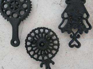 lot of 3 Wilton Iron trivet pot holders