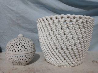 Decorative Glass basket   Tealight holder