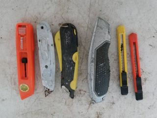 Utility knives lot