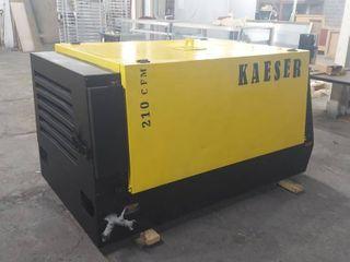 2011 Kaeser Diesel Air Compressor with 1799 Hrs   210 CFM   Runs  Needs New Battery