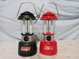 2 pack of Coleman lanterns