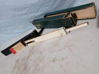 K   E Vintage Slide ruler