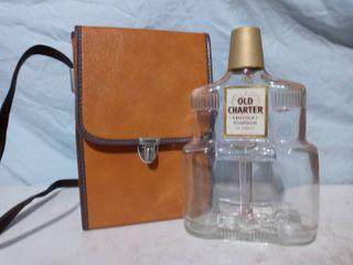 Vintage Case and Old Charter Bourbon Bottle