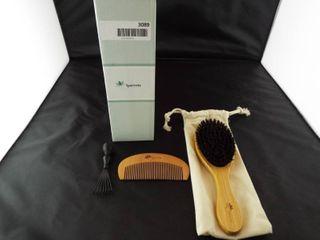 laurrette boar bristle hairbrush   comb