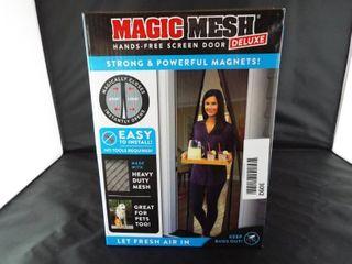 Magic mesh hands free screen door deluxe