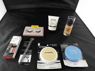 lot of covergirl beauty product  lashes  sunscreen