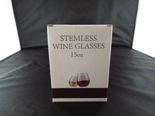 Stemless wine glass 15oz