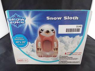 Snow zone snow sloth inflatable snow tube