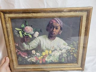 Reproduction of FrAcdAcric Bazille 1841 1870 Called Negro Girl with Peonies