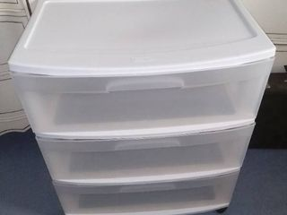 Sterlite 3 Drawer Plastic Rolling Container