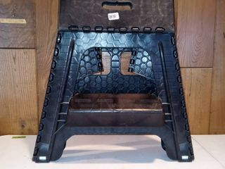 Sturdy Black 2 Step Collapsible Step Stool