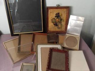 Small lot of Miscellaneous Picture Frames of Various Shapes and Sizes