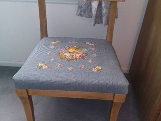 Floral Needlepoint Chair