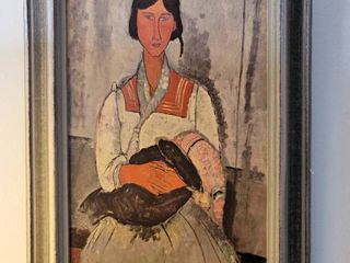 AMEDEO MODIGlIANI Gypsy Woman with Baby Repro OIl Painting