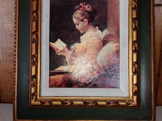 Nice Framed Picture Of A Woman In An Interesting Frame