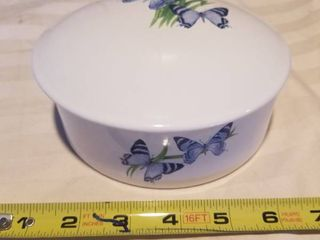 Ceramic Butterfly Jewlery Dish with lid