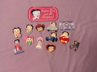Small lot of Betty Boop Magnets