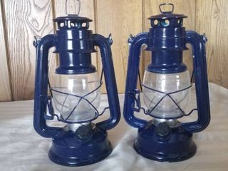 lot of Two Blue lanterns  Electric  Tested and Working