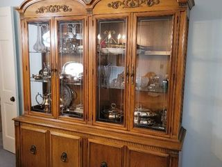 Hickory Double Sided lighted Hutch