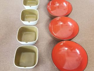 Two Sets of Four Ramekin Dishes