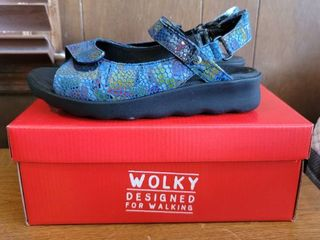 Wolky Designed for Walking Jean Blue Multi Color Size 40