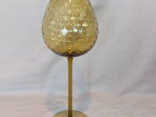 Tall Wine Glass Candle Holder