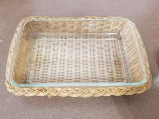 Pyrex Ovenware With Serving Basket