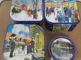 lot of Four Danish Butter Cookie Tins