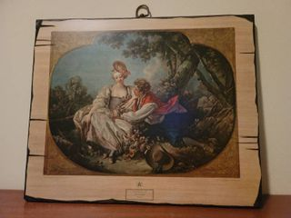 Wooden Reproduction of Twin Print  496  Boucher  Autumn