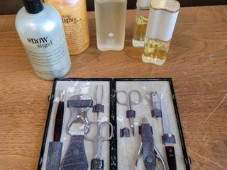 lot of Estee lauder White linen and Philosophy body Wash and Nail Kit