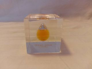 Texas Gold Oil lucite Paperweight Neiman Marcus