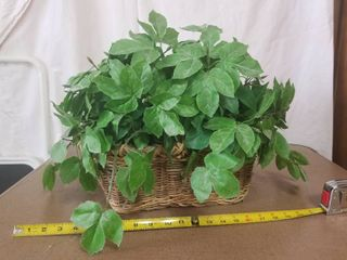 Fake Plant with Basket