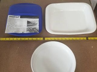 lot of Miscellaneous Cooking Ware  Extra large Silicone Steam Cooker  Corningware Casserole  Souffle Dish