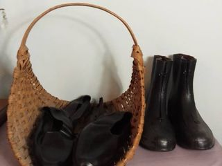 lot of 3 Rubber Shoes Size 10 and Size large with Flower Basket