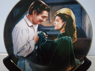 Gone with The Wind  Scarlet Asks a Favor  By Paul Jennis  Collectible Plate  with Stand